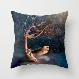Thousand Cherry Blossoms Throw Pillow