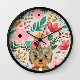 Yorkie Wall Clock