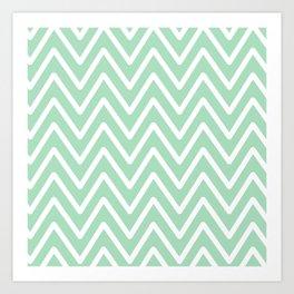 Chevron Wave Mint Art Print