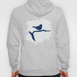 Blue Silhouette Bird Hoody