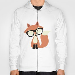 Hipster Red Fox Hoody