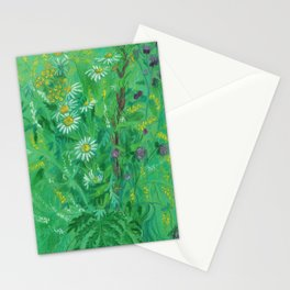 July Wildflowers, Meadow Flowers, Summer Floral, Pastel Painting Stationery Cards