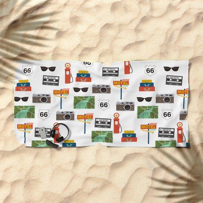 Travel Collage Beach Towel