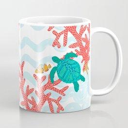 Clowning Around With Sea Turtles on The Reef Coffee Mug