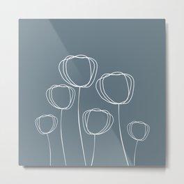 Simple Poppy Metal Print