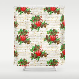 Christmas pine cones #2 Shower Curtain
