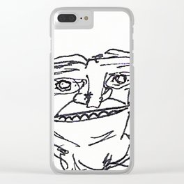 Mr Weirdface Clear iPhone Case