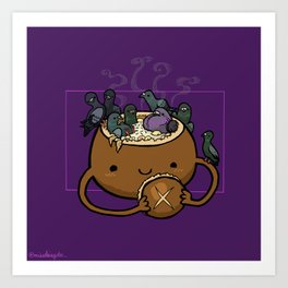 Food Series - Chowder Bread Bowl Art Print