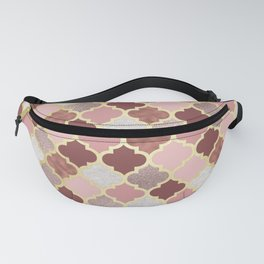 Warm rose gold moroccan Fanny Pack