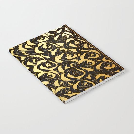 Golden Roses Notebook
