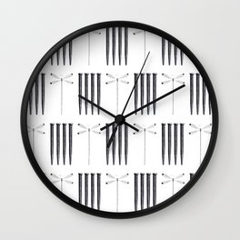 Dagonfly & nails Wall Clock