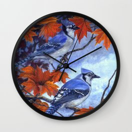 Blue Jay Complements Wall Clock