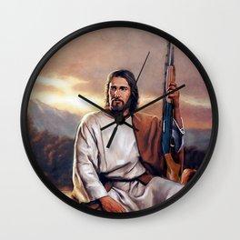 Shotgun Christ The Messiah Wall Clock
