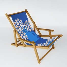 Abstraction_FLORAL_Blossom_001 Sling Chair