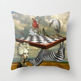 Zebra Upside Down Throw Pillow