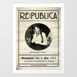 re:trospektive 1913: Was kommt nach dem Telephon? Art Print