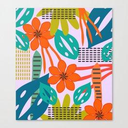 Fresh jungle scene Canvas Print