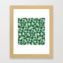 420 Cannabis mary jane Weed Pattern Gift Framed Art Print