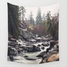 Morning Mountain Escape - Nature Photography Wall Tapestry