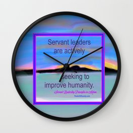 Servant Leadership in Action Wall Clock