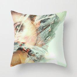 Snow Chalk Throw Pillow