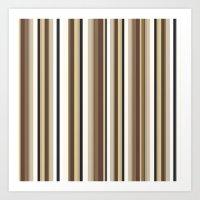 Pale Stripes Art Print