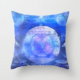 Dirigible Moon Throw Pillow