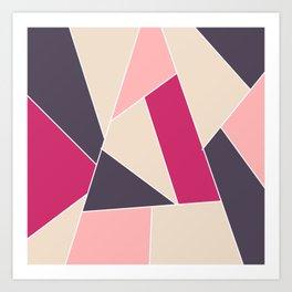 Pink with black Art Print