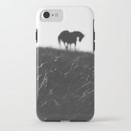 Horses on horizon iPhone Case