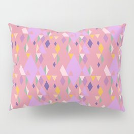 Rhombuses on pink background, abstract seamless pattern Pillow Sham