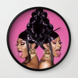 Cardi B Megan Thee Stallion Wall Clock