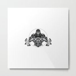 Fitnes Gorilla Logos Metal Print