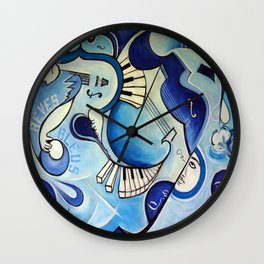 Reves Bleus (blue dreams) Wall Clock