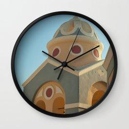 Greek island chapel Wall Clock