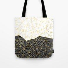 Ab Half and Half White Gold Tote Bag