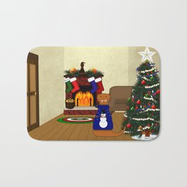 Oliver The Otter's Christmas Bath Mat