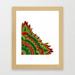 Tribal Corner Mandala Framed Art Print