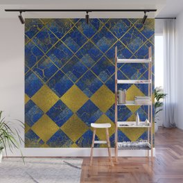 Lapis Lazuli and gold pattern Wall Mural