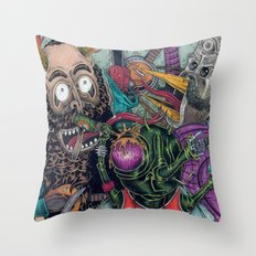 Sid Squish and the Death Collectors Throw Pillow