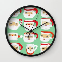 Vintage Santa Mug Collection Wall Clock