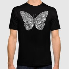 Butterfly #3 Mens Fitted Tee Black MEDIUM