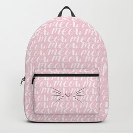 Crazy Cat Lady (Meow Meow Meow Pattern) Backpack