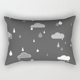 Grey Rains Rectangular Pillow