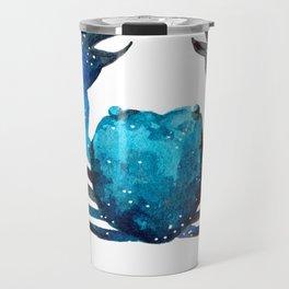 Cerulean blue Crustacean Travel Mug