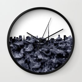 Dublin Skyline Ireland Wall Clock