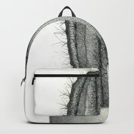 Pencil Drawing of Cactus Backpack