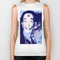 dali Biker Tanks featuring Dali  by old opps