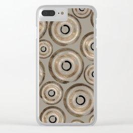 Enso Circles - Zen Circles Pastel Gold Clear iPhone Case