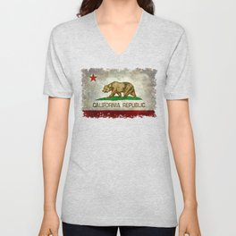 California flag - Retro Style Unisex V-Neck