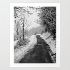Winter Path Art Print
